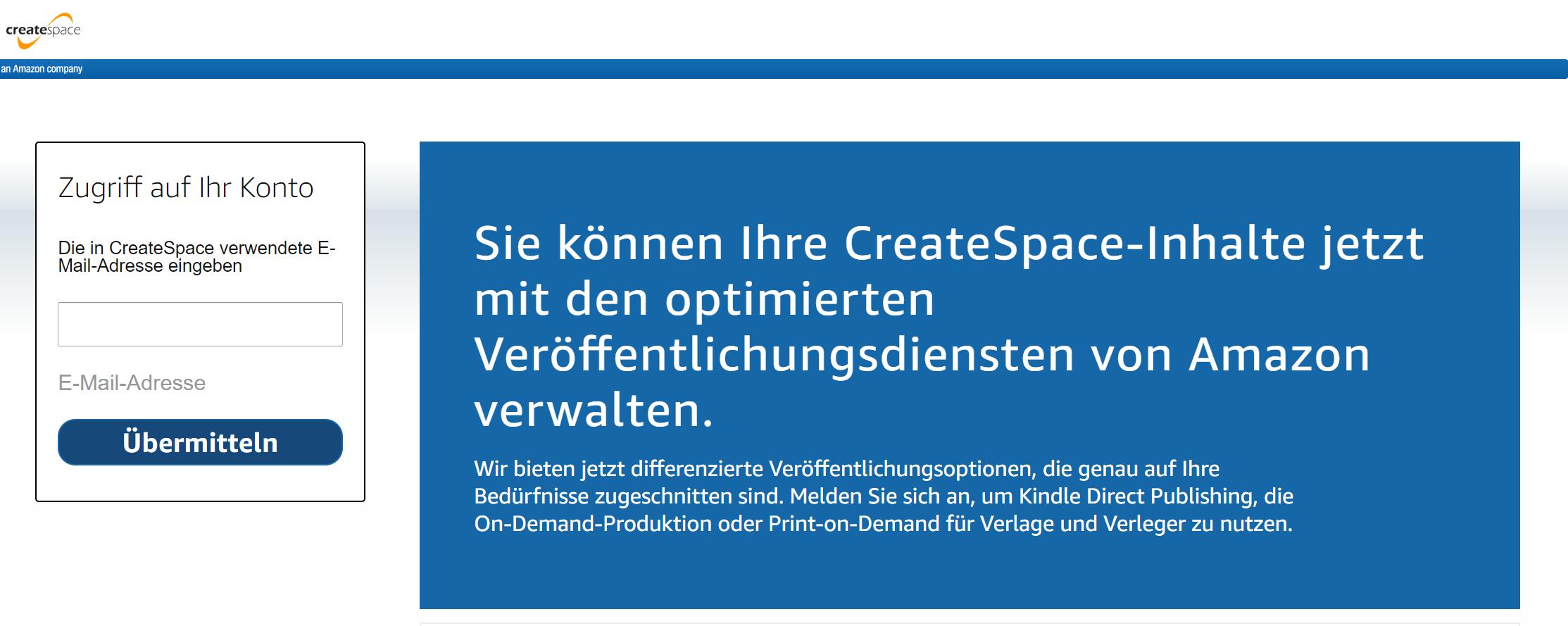 CreateSpace schließt für Autoren