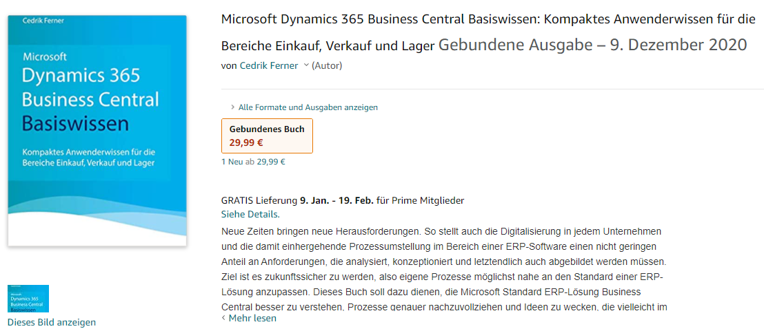 Microsoft Dynamics 365 Business Central Basiswissen